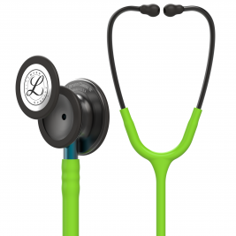 3M™ Littmann® Classic III™ Monitoring Stethoscope, Smoke Chestpiece, Lime Green Tube, Blue Stem and Smoke Headset, 27 inch, #5875