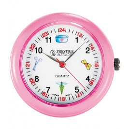 Medical Symbol Stethoscope Watch #1689-Pink