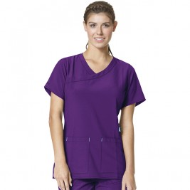 Carhartt CROSS-FLEX Women's Y-Neck Solid Scrub Top #C12210