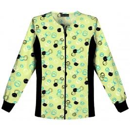 Cherokee Zip Front Knit Panel Warm-Up Jacket #2315