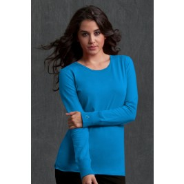 Peaches Uniforms Women's Long Sleeve Solid Tee Shirt #4859