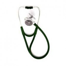 Welch Allyn® Tycos® Harvey™ DLX Triple-head Stethoscope #5079-324, Forest Green