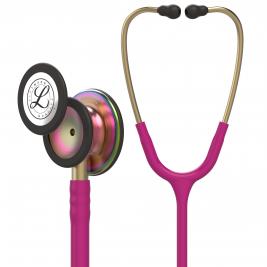 3M™ Littmann® Classic III™ Monitoring Stethoscope, Rainbow-Finish, Raspberry Tube, 27 inch, 5806