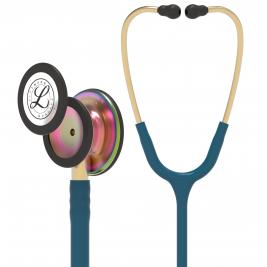 3M™ Littmann® Classic III™ Monitoring Stethoscope, Rainbow-Finish, Caribbean Blue Tube, 27 inch, 5807