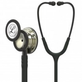 3M™ Littmann® Classic III™ Stethoscope Champagne-Finish Chestpiece, Black Tube, Smoke Stem and Headset, 27 inch, 5861