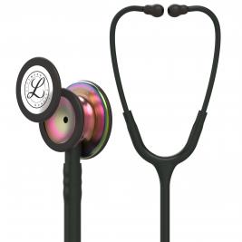 3M™ Littmann® Classic III™ Monitoring Stethoscope, Rainbow-Finish Chestpiece, Black Tube, 27 inch, 5870