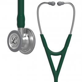 3M™ Littmann® Cardiology IV™ Diagnostic Stethoscope, Standard-Finish Chestpiece, Hunter Green Tube, 27 inch, 6155