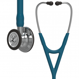 3M™ Littmann® Cardiology IV™ Diagnostic Stethoscope, Mirror-Finish Chestpiece, Caribbean Blue Tube, Stainless Headset, 27 inch, 6169