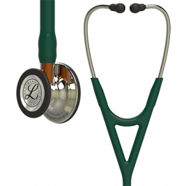 3M™ Littmann® Cardiology IV™ Diagnostic Stethoscope, High Polish Champagne-Finish Chestpiece, Hunter Green Tube, Orange Stem and Champagne Headset, 27 inch, #6206