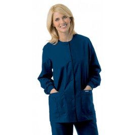 Landau Women's Crew Neck Warm-Up Jacket 7525