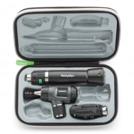 Welch Allyn Diagnostic Set with Macroview Otoscope #23820 and Coaxial Ophthalmoscope #11720 and Lithium-ion Handle & LED BULBS #97200-MSL