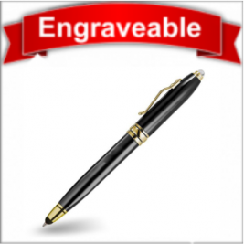 Three Function Pen with Stylus and LED Light #61105-Black