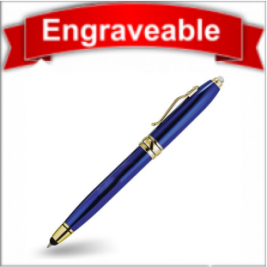 Three Function Pen with Stylus and LED Light #61105-Blue