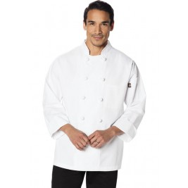 Dickies Chef Unisex Classic Knot Button Chef Coat #DC43