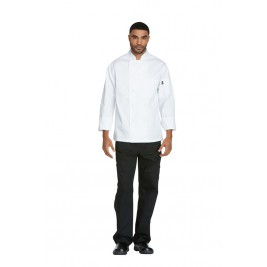 Dickies Chef Unisex Classic Cloth Covered Button Coat #DC44
