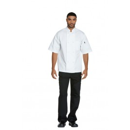 Dickies Chef Unisex Classic Knot Button Chef Coat S/S #DC48