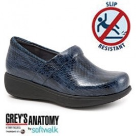 Grey's Anatomy Meredith Sport Softwalk Nursing Shoe #G1700-466 Blue/Black Snake