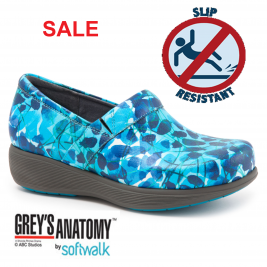 Grey's Anatomy Meredith Sport Softwalk Nursing Shoe #G1700-901 Blue Abstract Floral (Call or e-mail for special pricing)