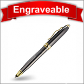 Three Function Pen with Stylus and LED Light #61105-Grey