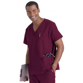 Landau's Men's 5-Pocket Scrub Top #7489