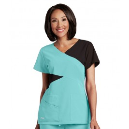 Grey's Anatomy Signature Contract Mock Wrap Top #2140G