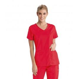 Grey's Anatomy Women's Side Panel V-Neck Scrub Top # 41423