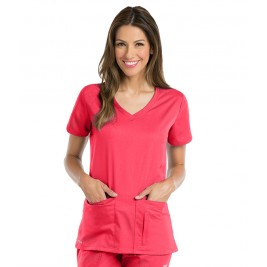 Active by Grey's Anatomy Women's Side Panel V-Neck Scrub Top # 41423