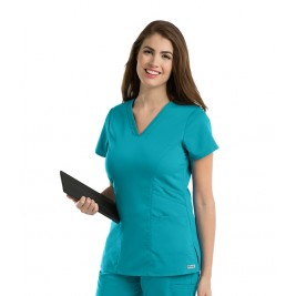 Grey's Anatomy Classic Women's V-Neck Solid Scrub Top #41452