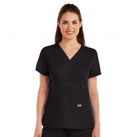 Grey's Anatomy Junior 3 Pocket Mock Wrap Top #4153