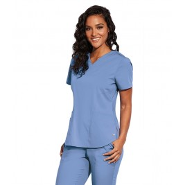 "Barco Motion ""Jill"" 3 Pocket Princess Seam Back Scrub Top #MOT001"
