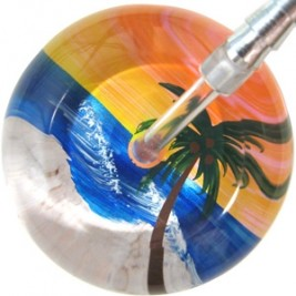 UltraScope Cardiology Stethoscope with Palm Tree Design #036-Yellow Sky