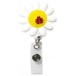 3D Rubber Retractable Badge Reel – Daisy  #SC-047