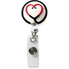 3D Rubber Retractable Badge Reel – Stethoscope #SC-073