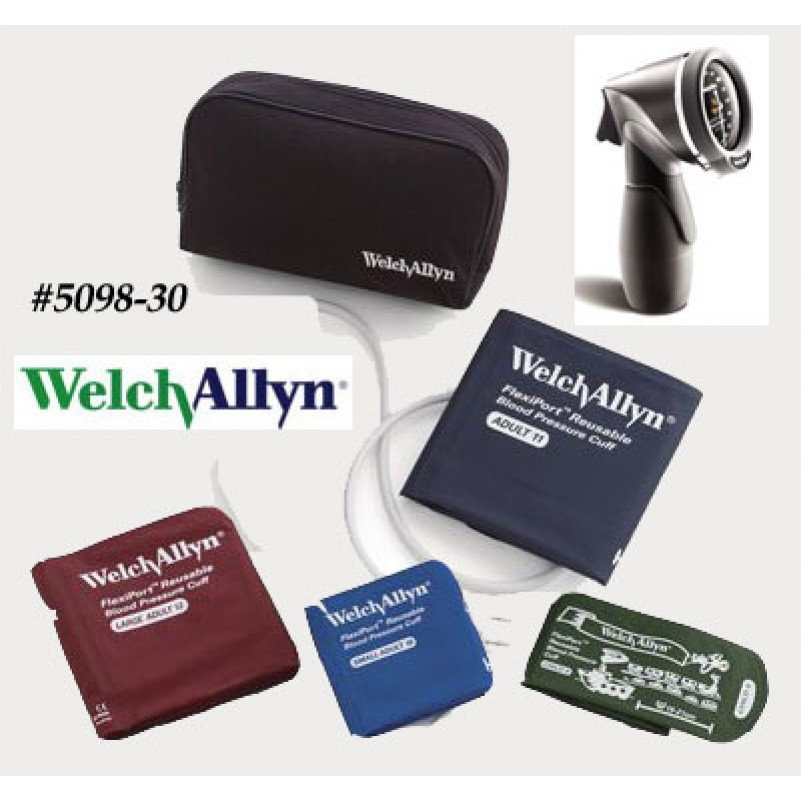 Welch Allyn Ds66 Aneroid Multi Cuff Kit 5098 30