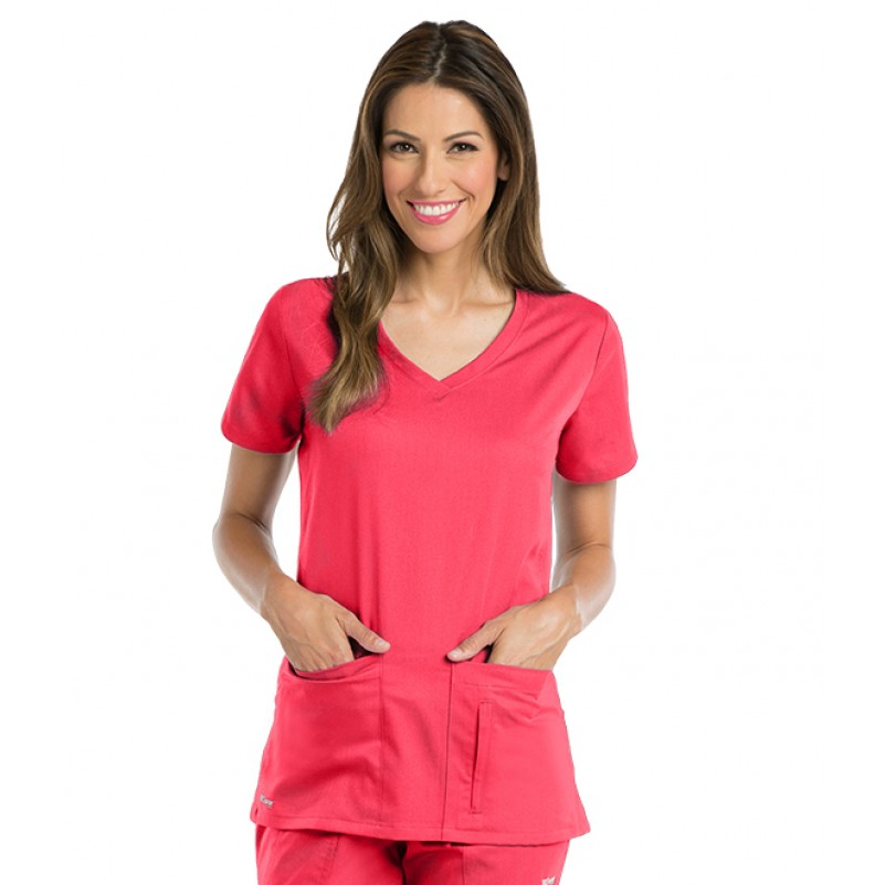 1c31b0bc6a8 Active by Grey's Anatomy Women's Side Panel V-Neck Scrub Top 41423 ...