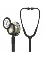 3M™ Littmann® Classic III™ Monitoring Stethoscope Champagne-Finish Chestpiece, Black Tube, Smoke Stem and Headset, 27 inch, 5861