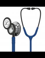 3M™ Littmann® Classic III™ Monitoring Stethoscope, Mirror-Finish Chestpiece, Navy Blue Tube, Smoke Stem and Headset, 27 Inch, 5863