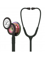 3M™ Littmann® Classic III™ Monitoring Stethoscope, Rainbow-Finish Chestpiece, Black Tube, 27 inch, 5870