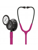 3M™ Littmann® Classic III™ Monitoring Stethoscope, Smoke-Finish Chestpiece, Raspberry Tube, 27 inch, 5871