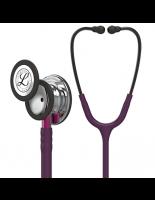 3M™ Littmann® Classic III™ Monitoring Stethoscope, Mirror Finish Chestpiece, Plum Tube, Pink Stem and Smoke Headset, 27 inch, #5960