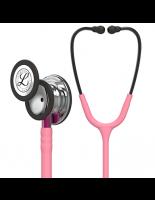 3M™ Littmann® Classic III™ Monitoring Stethoscope, Mirror Finish Chestpiece, Pearl Pink Tube, Pink Stem and Smoke Headset, 27 inch, #5962