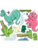 Zoo Pals Dinosaur Theme Decal Kit #100114