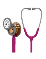 3M™ Littmann® Classic III™ Monitoring Stethoscope High-polish Copper Chestpiece, Raspberry Tube, Stainless Headset,Pink Stem 27 inch, 5647