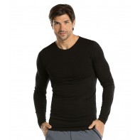 Barco One Men's Long Sleeve Knitted Solid Tee #0305B