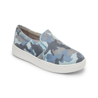 Vionic Women's Pro Mahoney Avery Slip-on - Ladies Water Resistant Slip Resistant Service Shoes with Concealed Orthotic Arch Support -Camo Lt Blue