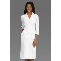 Peaches Uniforms Women's 3/4 Sleeve Embroidered Waist Scrub Dress #1165