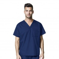 WonderWork Unisex V-Neck Solid Scrub Top #100