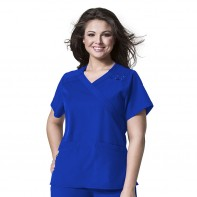 PLUS by WonderWink WonderWORK Women's Mock Wrap Top #6205