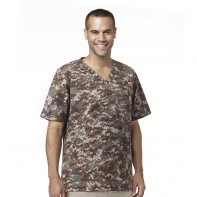 Carhartt Men's V-Neck Camo Scrub Top #C15104