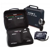 ADC System 5™:   Portable 5 Cuff Sphyg #740-MCC (Multi-Colored Cuffs)